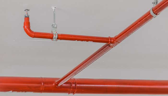 Fire sprinkler ceiling pipes